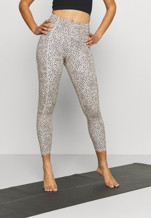 LIFESTYLE POCKET - Leggings - natural/black