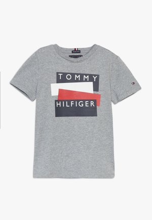 STICKER TEE  - T-shirt con stampa - grey