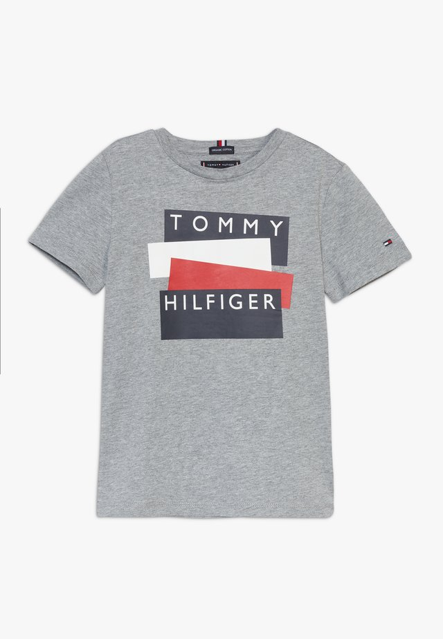 STICKER TEE  - T-shirt imprimé - grey