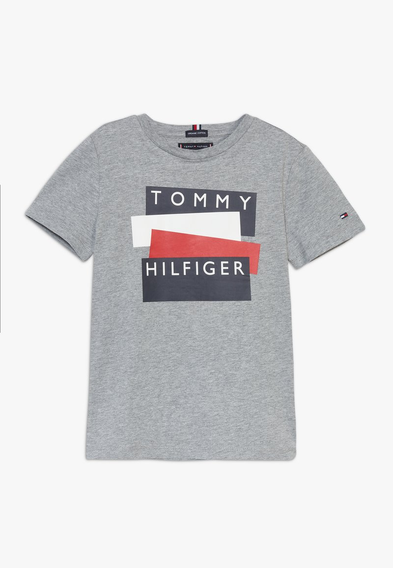 Tommy Hilfiger - STICKER TEE  - T-Shirt print - grey