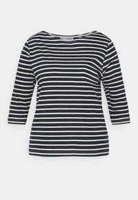 Selected Femme Curve - SLFANDARD BOAT NECK - Long sleeved top - snow white - 4