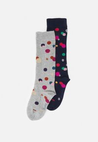 Ewers - GLITZERPUNKTE 2 PACK - Knee high socks - navy/grey - 0