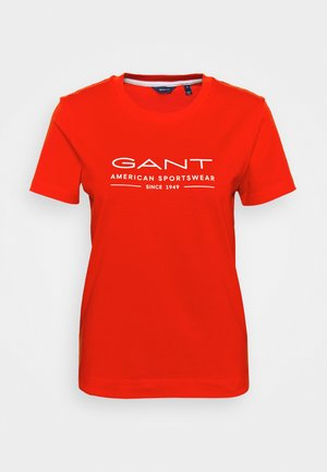 SUMMER  - T-shirts med print - lava red