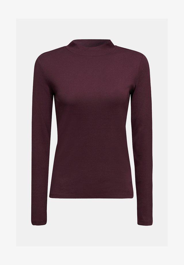 LONGSLEEVE AUS 100% BIO-BAUMWOLLE - Long sleeved top - purple