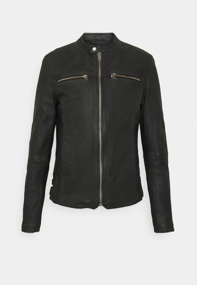 GC EAGLE BIKER - Leather jacket - black