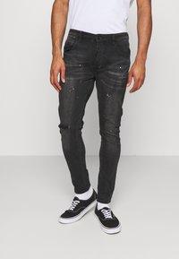 Alessandro Zavetti - VENICE SUPERSLIM - Jeans Skinny Fit - black wash - 0