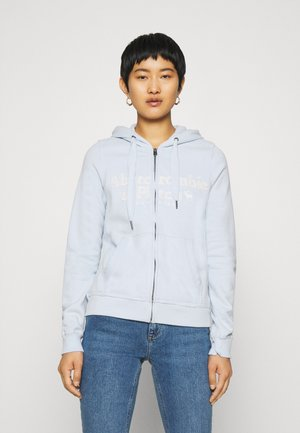 LONG LIFE FULL ZIP - Zip-up hoodie - light blue