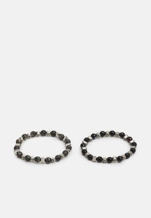 JACGREY  BRACELET 2 PACK - Armband - black/grey