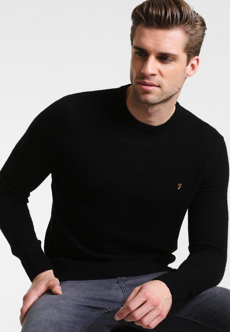 Farah - THE ROSECROFT CREW NECK  - Stickad tröja - black
