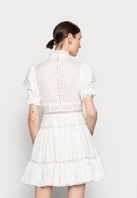 By Malina - IRO MINI LACE DRESS - Blousejurk - white - 2