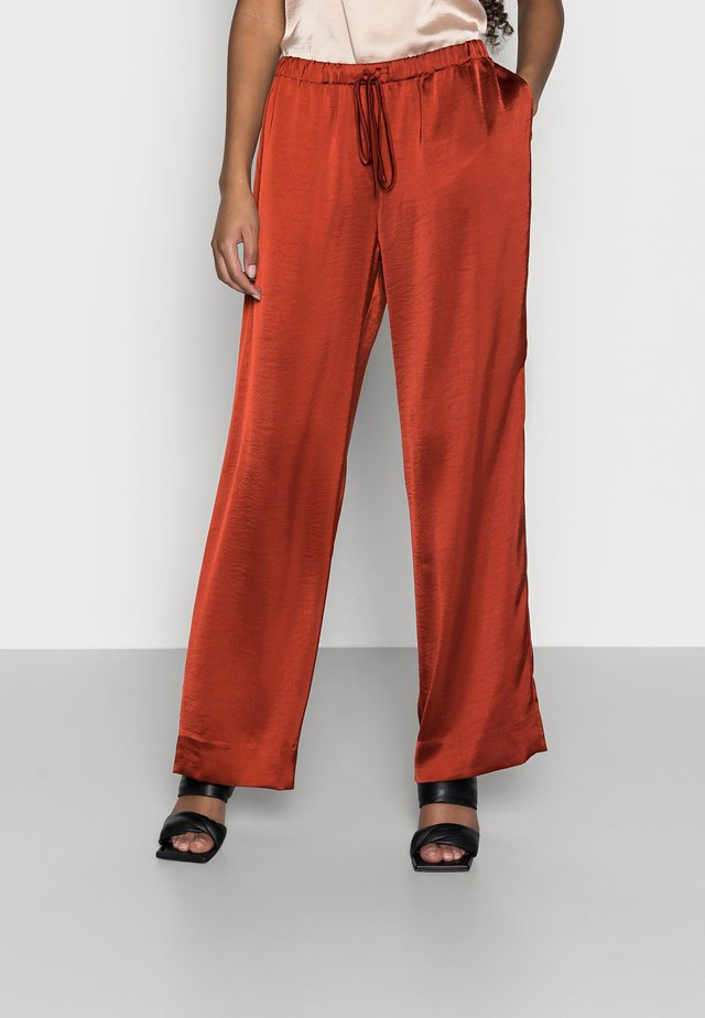 LUXE PULL ON - Trousers - burnt caramel