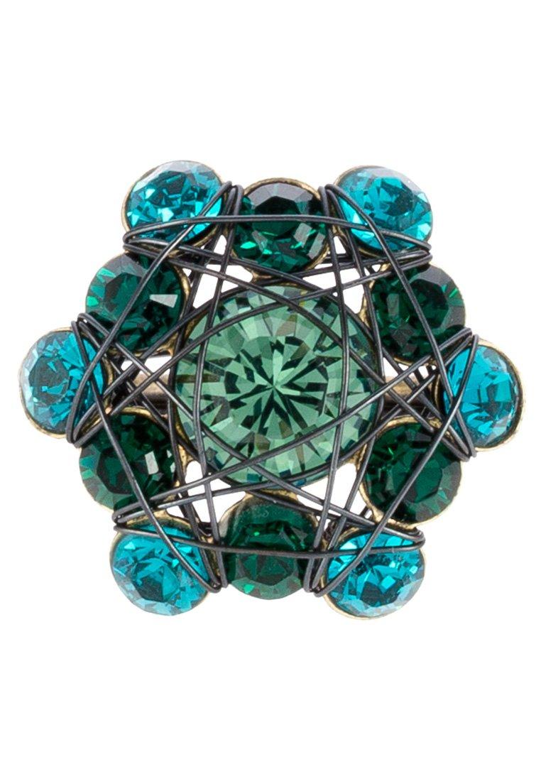 Konplott BENDED LIGHTS - Ring - blau/grün/antikmessingfarben/blå njrNxvELlwRwyjP