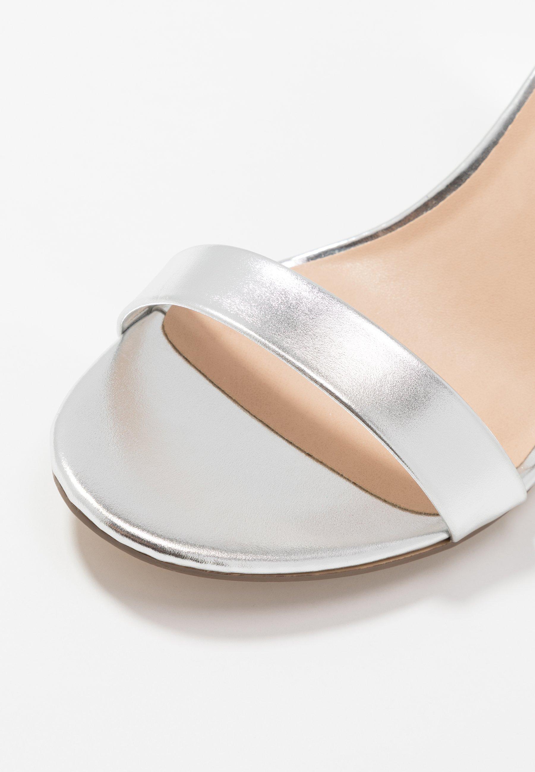 Dorothy Perkins Shimmer Block Heel - Sandales À Talons Hauts Silver