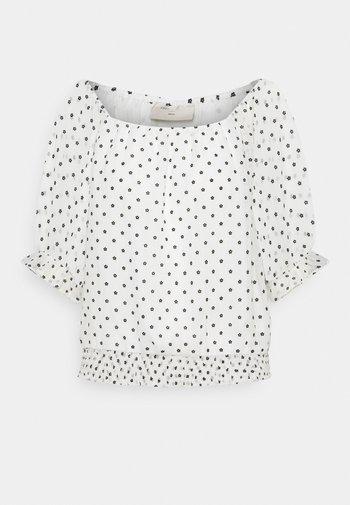 LEVA - T-shirt med print - offwhite/black