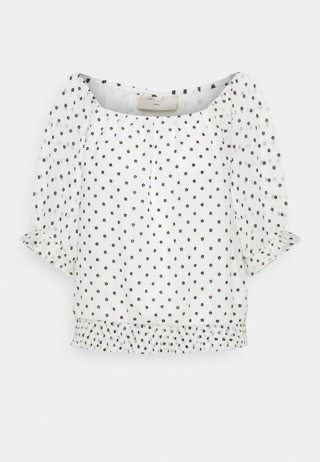 LEVA - T-shirt con stampa - offwhite/black