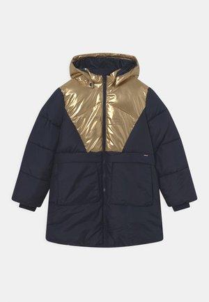 NKFMITTA LONG JACKET - Winter coat - dark sapphire