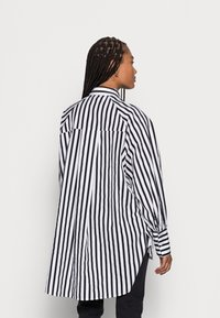 Selected Femme - SLFTILDA LS LONG SHIRT STRIPE - Button-down blouse - black - 2