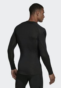 adidas Performance - ALPHASKIN TECH 3-STRIPES LONG-SLEEVE TOP - Sports shirt - black - 1