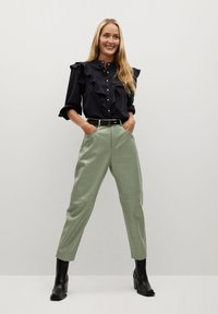 Mango - WALLY - Trousers - vert - 1
