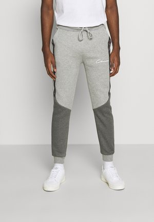 CONTRAST JOGGER WITH TAPING - Pantaloni sportivi - grey