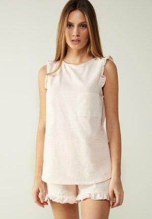 Pyjama top - ROSA/ECRU