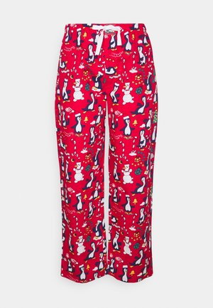 PYJAMA PANT PINGUINS - Pyjama bottoms - red