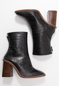Topshop - HERTFORD BOOT - High heeled ankle boots - black - 3