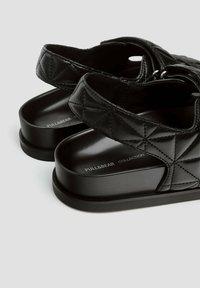 PULL&BEAR - Platform sandals - black - 5