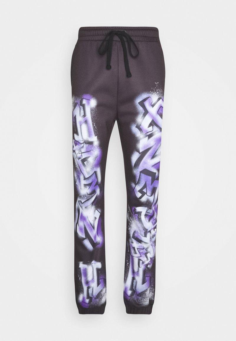 Jaded London - GRAFFITI JOGGERS - Teplákové kalhoty - black