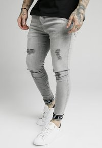 SIKSILK - CUFFED - Jeans Skinny Fit - washed grey - 0