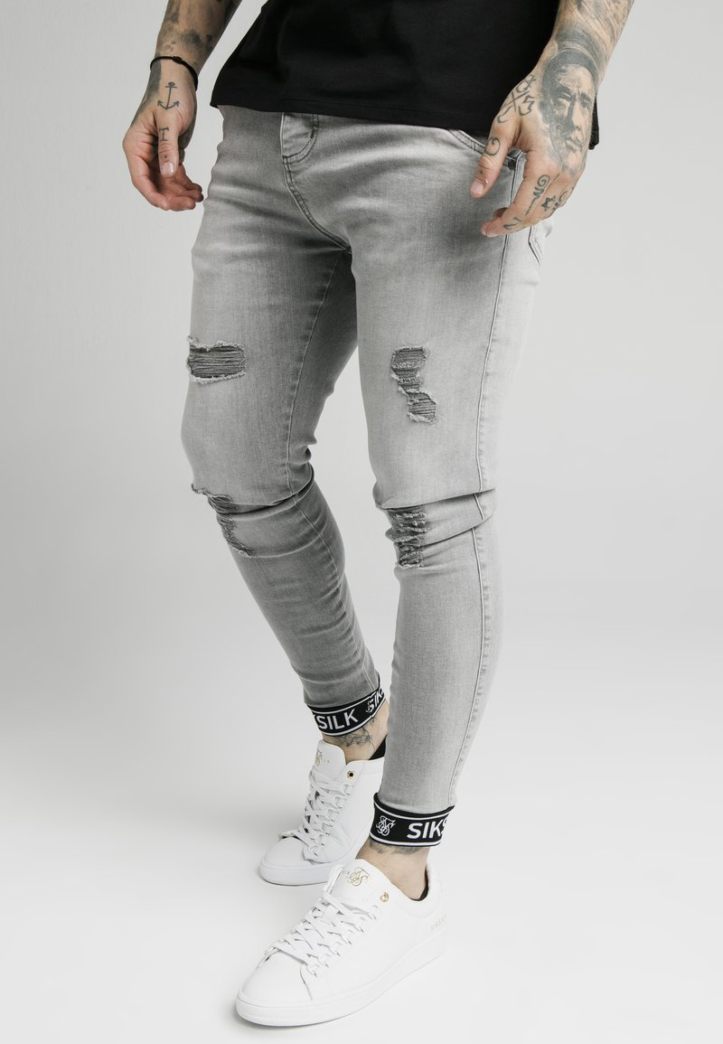 SIKSILK - CUFFED - Jeans Skinny Fit - washed grey