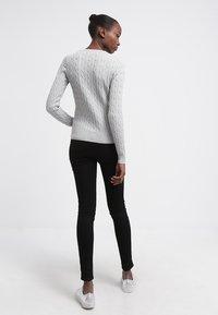GANT - CABLE CREW - Pullover - light grey melange - 2