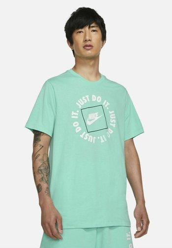 T-shirt med print - mint