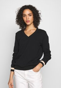 Scotch & Soda - V-NECK  - Sweatshirt - black - 0
