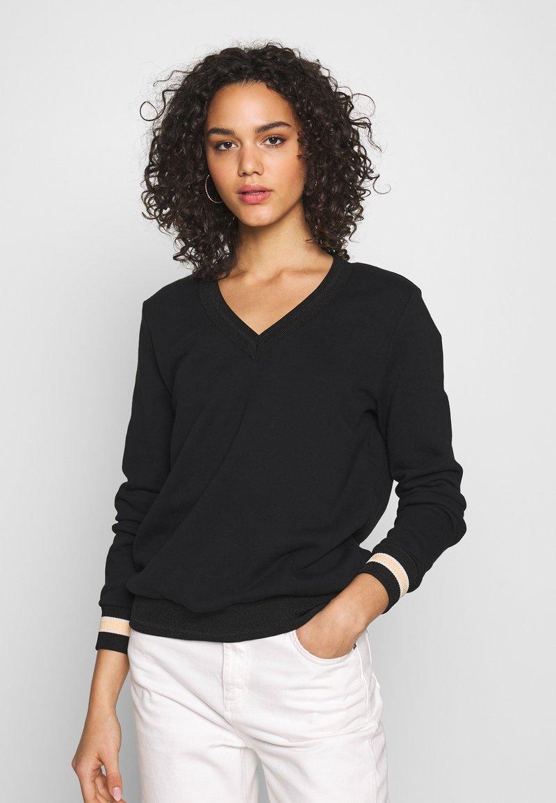 Scotch & Soda - V-NECK  - Sweatshirt - black