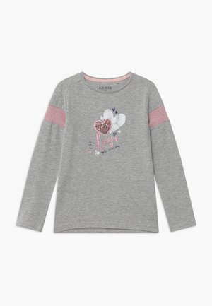 KIDS SEQUIN LOVE HEART - Topper langermet - nebel