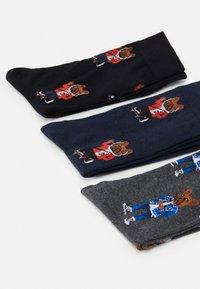 Jack & Jones - JACORG DOG SOCK 5 PACK - Ponožky - dark grey melange/black/navy blazer - 1