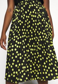 CAPSULE by Simply Be - PRINT PLEATED MIDI SKIRT - Pleated skirt - black/lime - 4