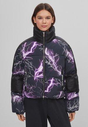 MIT GEWITTER-PRINT  - Winter jacket - mauve