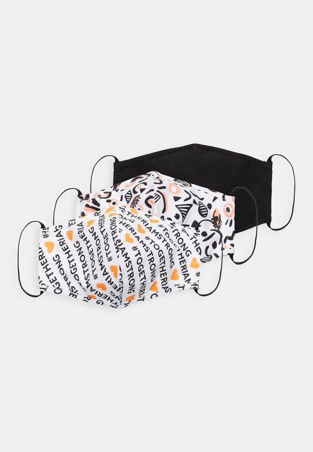3 PACK - Stoffen mondkapje - multi/orange/black