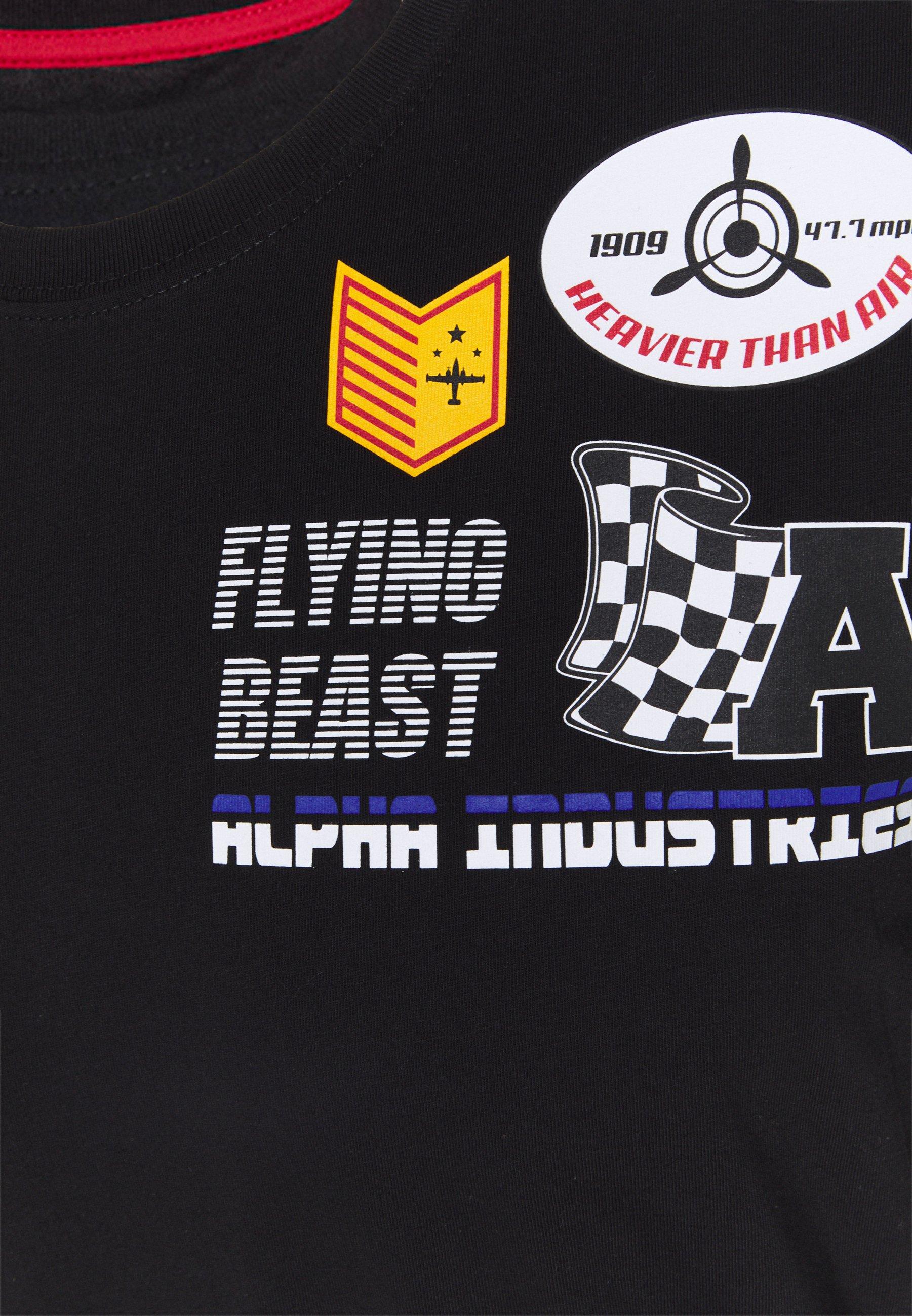 Alpha Industries AIR BOSS  - Print T-shirt - black 7oCTC