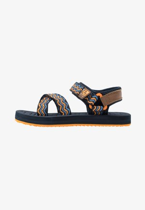 ZULU - Walking sandals - blue/orange