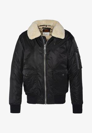 PILOTE - Light jacket - black/beige