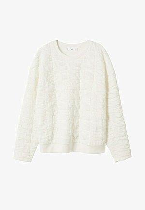 GETEXTUREERD - Sweatshirt - gebroken wit