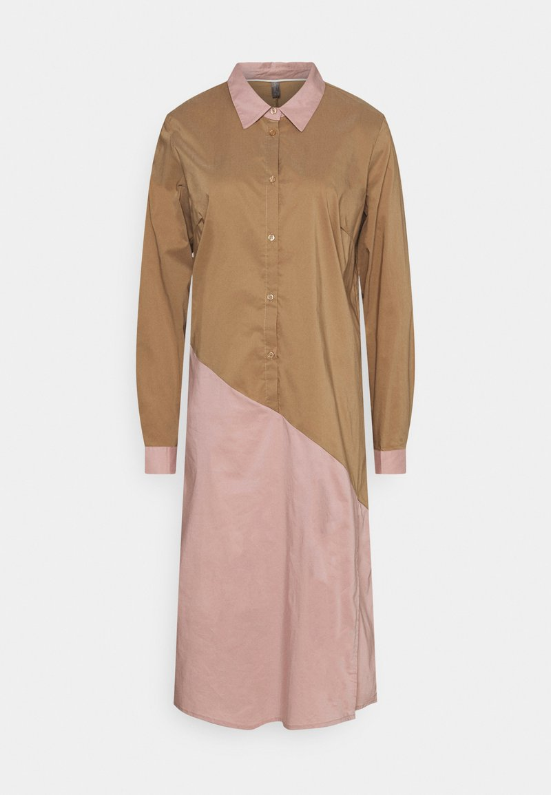 Culture - ANTONIETT DRESS - Košilové šaty - brown sugar