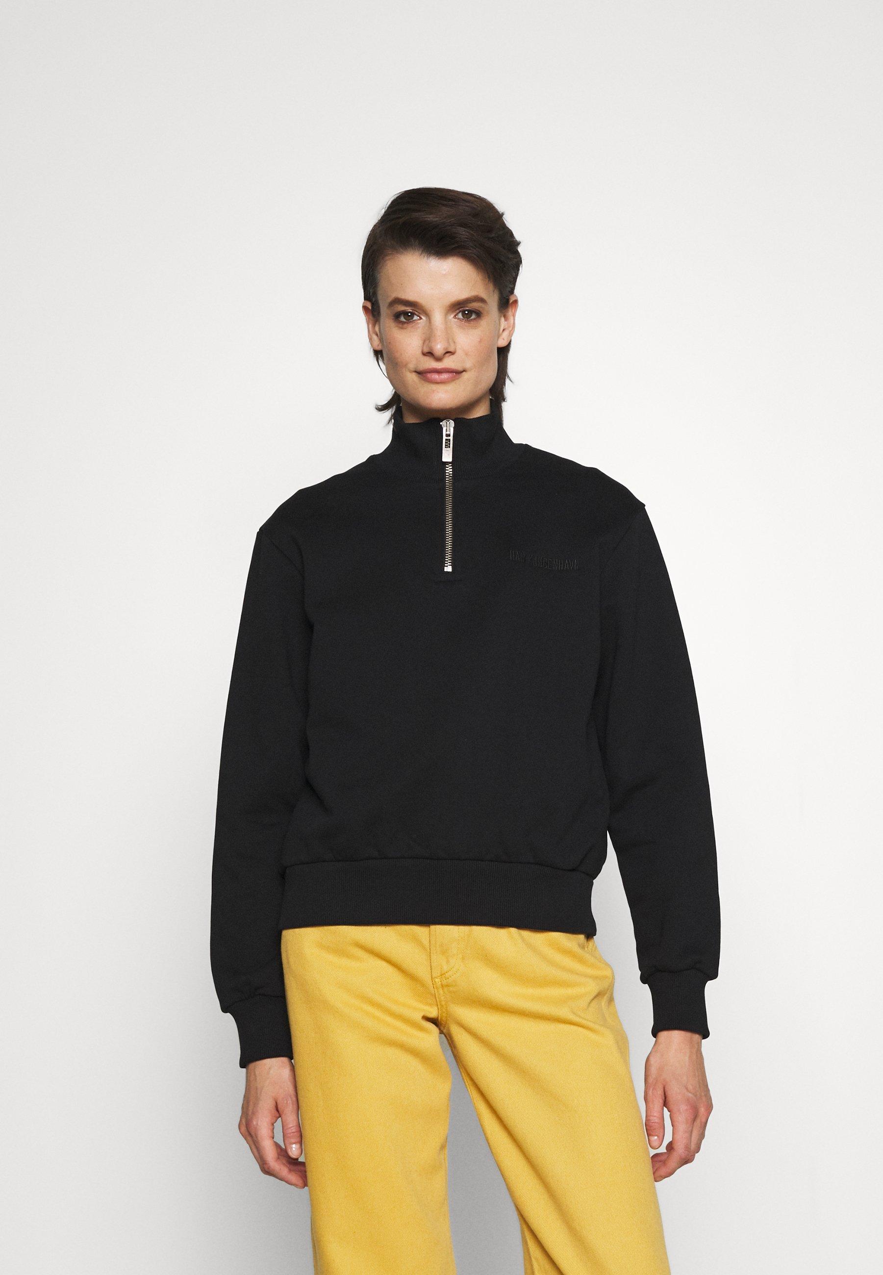Women HALF ZIP LOGO - Sweatshirt