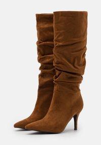 Steve Madden - VLOUCH - High heeled boots - cognac - 2