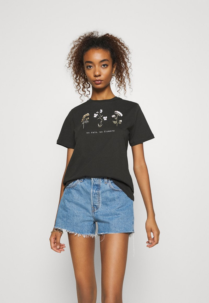 Even&Odd - Camiseta estampada - anthracite