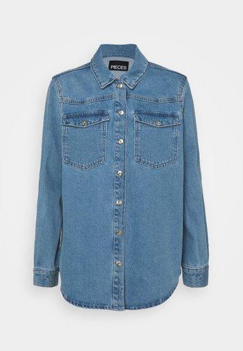 PCGRAY SHACKET - Denim jacket - light blue denim