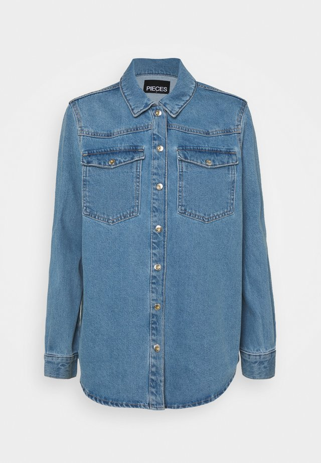 PCGRAY SHACKET - Veste en jean - light blue denim